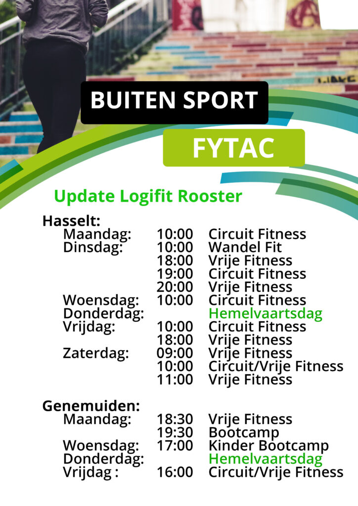 Fytac Buitensport Workout rooster wk19